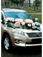 Декорирование авто большими цветами