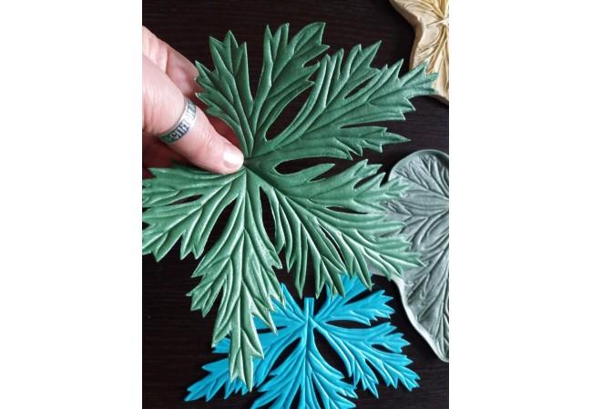 Молд лист Чашелистик Анемон, Пижма, Плющ, Хризантема и др. 19х18,5 см