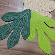 Молд лист Пиона 23х17 см
