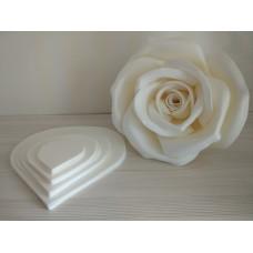 Набор шаблонов – изолон 1 розы D40 см с универсальным креплением / 16 лепестков, описание формования и сборки