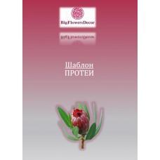 Шаблон цветка ПРОТЕИ h30см