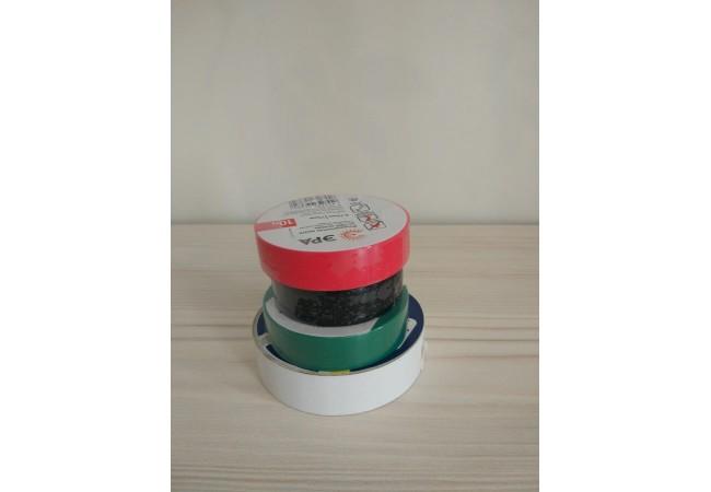 Изолента ПВХ комплект  4 шт / 0,13*15 мм, L 10м