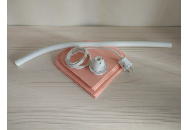 Набор для светильника / кабель с вилкой 1,5м, патрон Е14, труба с отверстиями для кабеля и листвы