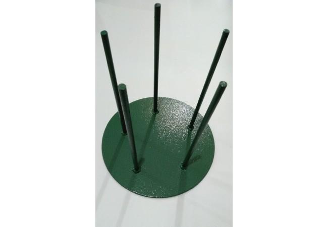 Стойка металическая: диаметр-30 см, высота-20 см, 5 штырь