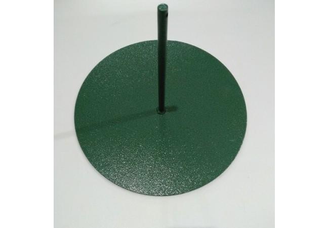 Стойка металическая: диаметр-30 см, высота-20 см, 1 штырь